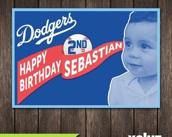 Dodgers Birthday Etsy
