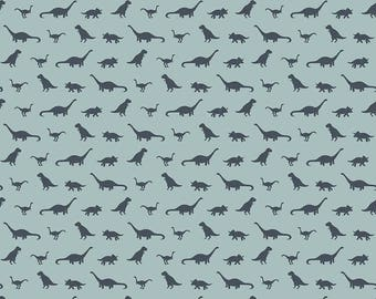Pre-Order** Tiny Dinos Blue KNIT ~ Fossil Rim Collection ~ Riley Blake Designs