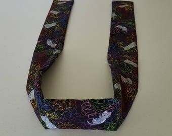 Handmade Cooling Wrap, Kitty With Colorful String, Neck Cooler, Cold Scarf, Bandana
