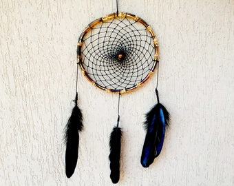 Boho Bohemian Black wood Dreamcatcher dreamcatcher Black Wood