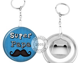 Keychain bottle opener-super dad - personalized gift Message