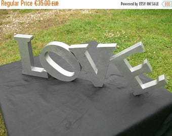 ON SALE Large Metal Love Sign//Love Decor//Love Letters//Metal Letters For Wall//Vintage Metal Signage//Found And Flogged