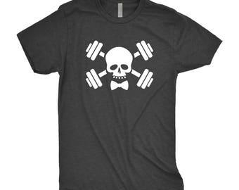 Skull Barbell Tee - Skull & Barbells Tee  - Fitness Tank - Workout Shirt- Gym Shirt - Weightlifting T-shirt - Functional Fitness Shirt
