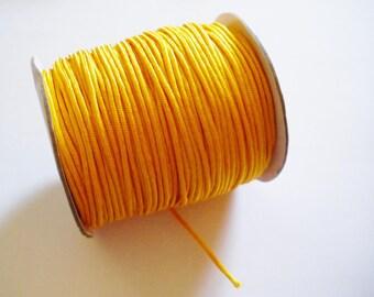 Orange 2 mm yellow braided nylon thread