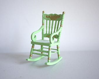 Dollhouse miniature furniture rocking chair dolls house furniture rocker 1 12th scale miniature