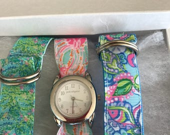 Lilly Pulitzer Jellies be Jammin Watch Set