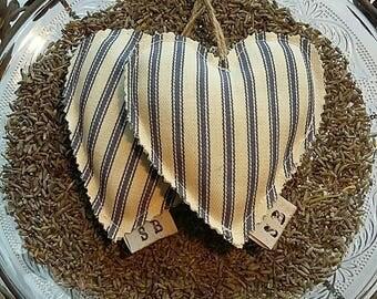 Lavender Heart Sachets. Lavender bag.