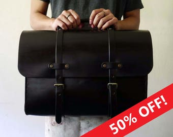 Leather Bag, Men's Leather Bag, Leather Briefcase, Leather Shoulder Bag, Men's Bag, Shoulder Bag