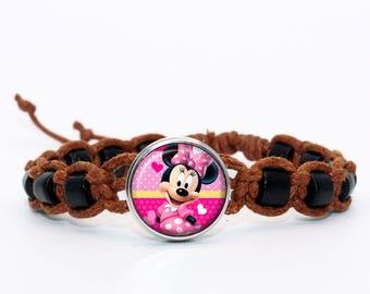 Brown shambala bracelet minnie