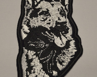 embroidered with dog