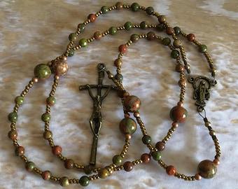 Green Fancy Jasper Rosary