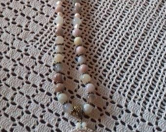 Botswana agate Moonstone necklace