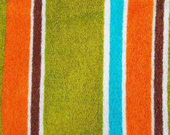 Striped French Terry Fabric, Sewing Fabric, Towel Fabric, 2 yards-Ready to Ship