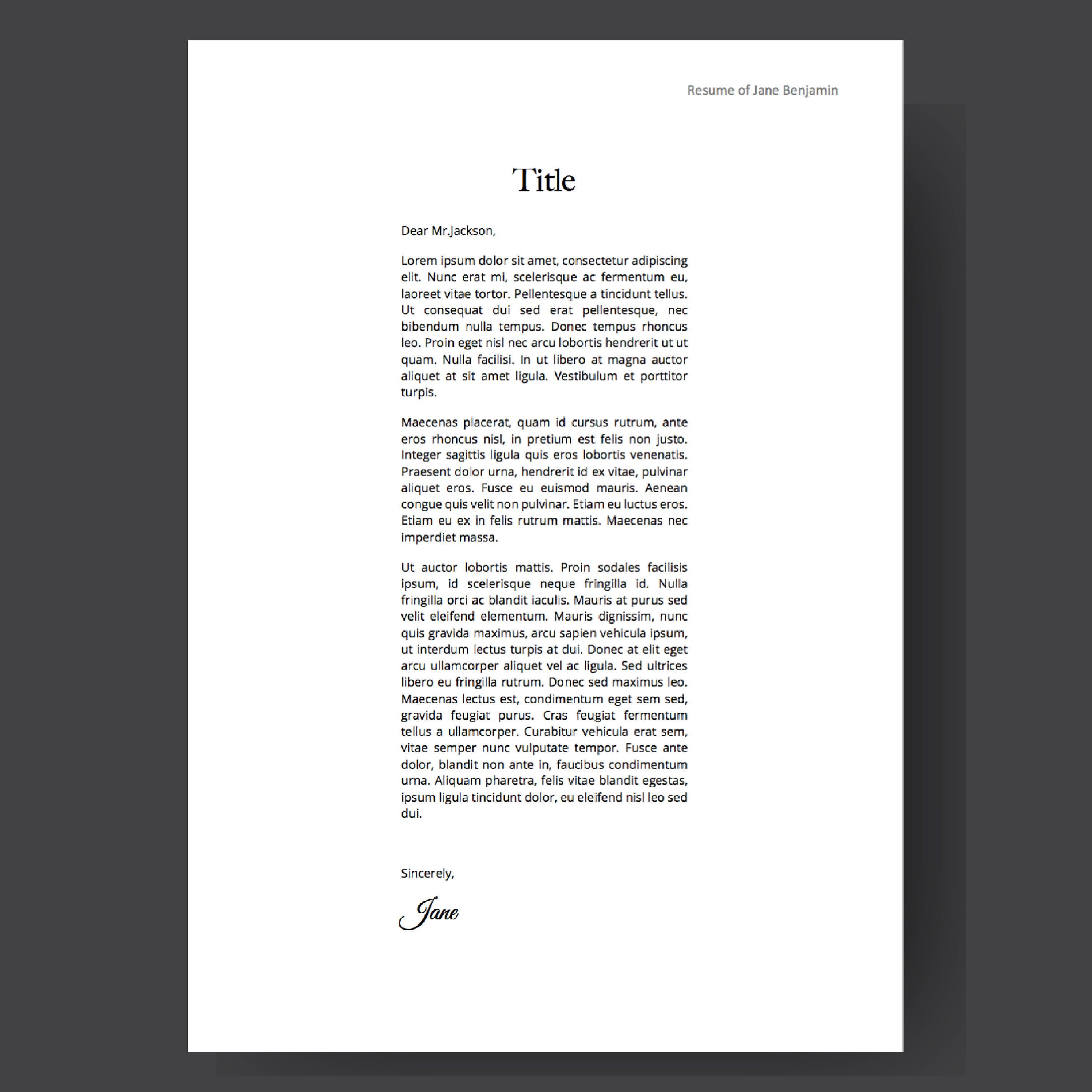 Clean 3 Pages Resume Template | CV template | Instant Digital ...