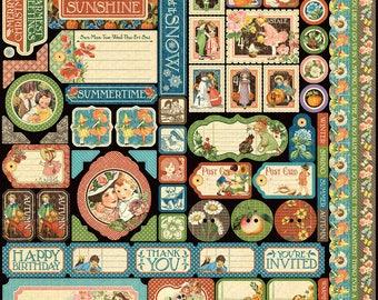 Graphic 45-Children's Hour Decorative Stickers