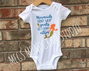 Baby Girl's Mermaid Onesie!