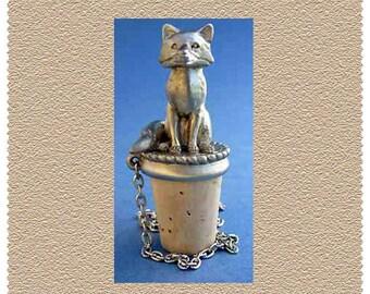 Fox Standing Hunting Wine Fine Pewter Bottle Stopper