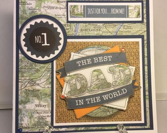 Handmade Fathers Day or Dads birthday card