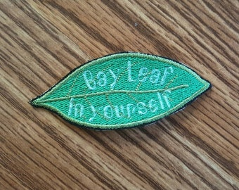 Bay Leaf in Yourself Embroidered Pun Patch