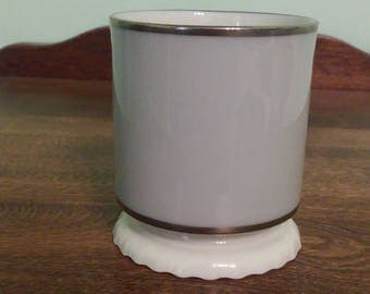 Grey and Gold Candleholder by Lenox