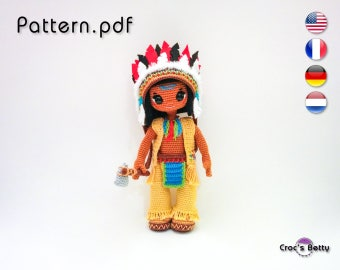 Pattern - Idriss & his Native Indian outfit