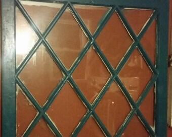 Antique Diamond Pane Window