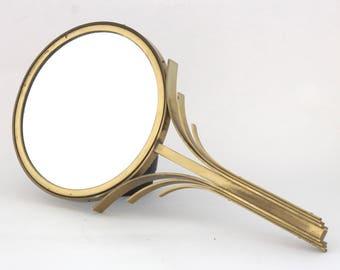 "Ivar Alenius Bjork ""Rare art deco makeup mirror in brass"""
