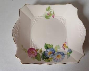 Art Deco Cake Plate, Plant Tuscan China, English Cake Plate, Vintage Tea Party, Sandwich Plate, Afternoon Tea, Flower Cake Plate, Bone China