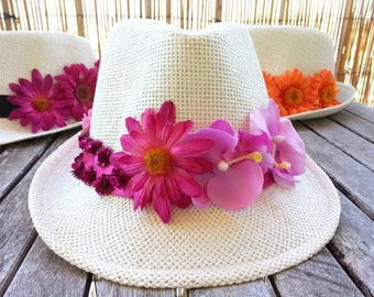 Pink floral Panama Hat form and inspiration for summer