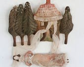 Christmas Collection for Riittaa- Art Dolls- Textile Art- Fairytale Art -Soft Sculptures by Pantovola