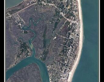 Tybee Island Georgia Satellite Poster Map