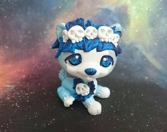 Lps custom dog ice  blue OOAK  by Pilimonika