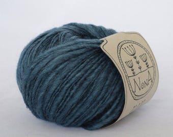 50g NoNA WooL Merino Mayfield Petroleum Blue 70% Merinowolle Blau