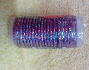 Brite Lace Purple Metallic, 5 yards/4.5 meters, Plastic Craft Lacing