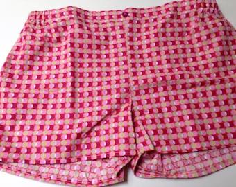 Pink cotton shorts