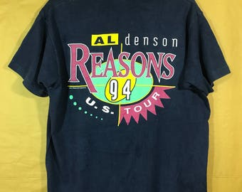 90s Vintage 1994 US Tour AL DENSON Reason T-shirt Xlarge Size Chest 23""