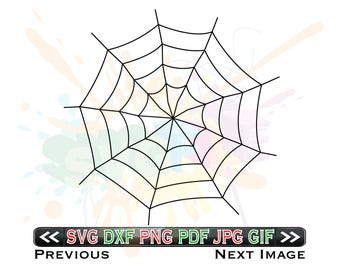 Spider Webs SVG Files for Cutting Halloween Cobweb Cricut - SVG Files for Silhouette - Instant Download