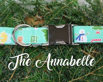 Dog Collar Christmas, Christmas Dog Collar, Festive Dog Collar, Holiday Dog Collars, Snowman Dog Collar, Holiday Collar, Christmas Collar