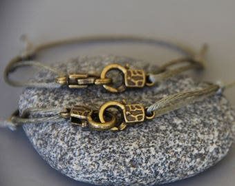 2 bracelets wristbands symbol of love couple