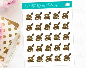 Pet Python Snake Planner Stickers