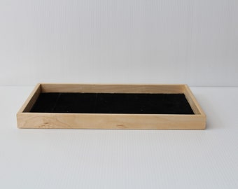 minimalist wood tray