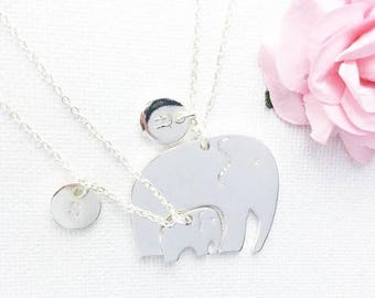 VACATION SALE Mother and daughter elephant necklace, mother daughter necklace, elephant necklace, gift for mum, mum gift, mum and daughter n