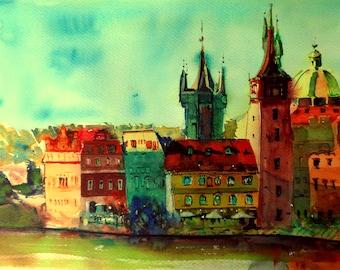 Watercolor painting (print of the original)