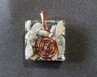 Sodalite w/Pyrite Orgonite