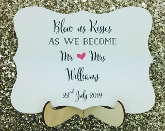 Bubbels Wedding Sign, Custom and Personalised