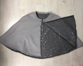 Light Gray Wool Cloak Cape