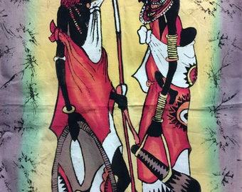 Hand Painted African Wax Resist Batik Art