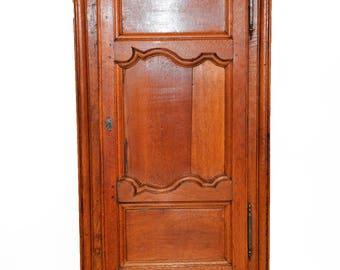 Antique French Rustic Cabinet, Simple Clean Lines #7865