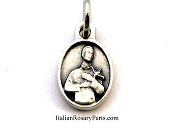 Saint Gerard Oval Bracelet Charm Medal Patron Saint of Fertility, Childbirth and Pregnancy | Italian Rosary Parts