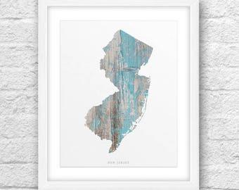 New Jersey Map, New Jersey Print, New Jersey Art, New Jersey State, New Jersey MinimalDesign, NewJersey Printable,InstantDownload, ModernArt